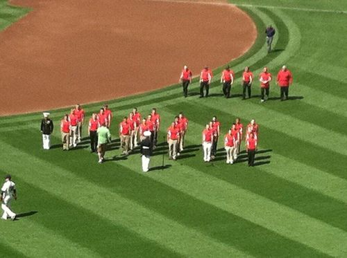 Marines on the field
