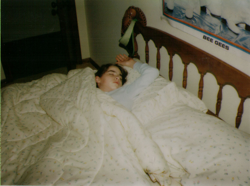 This is me sleeping, I believe my parents captured this on Christmas ...